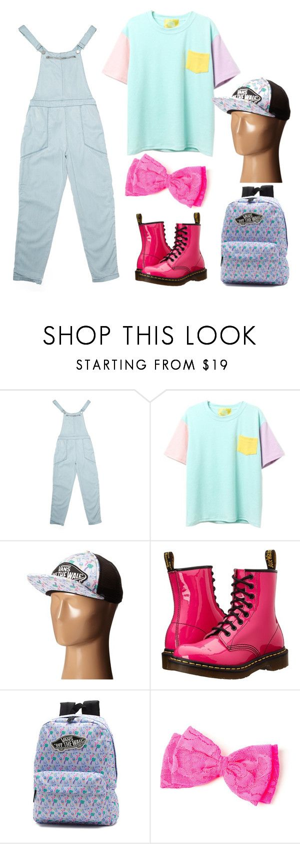 """""""neon👙"""" by mimi1324 ❤ liked on Polyvore featuring BLANKNYC, Vans, Dr. Martens and claire's"""