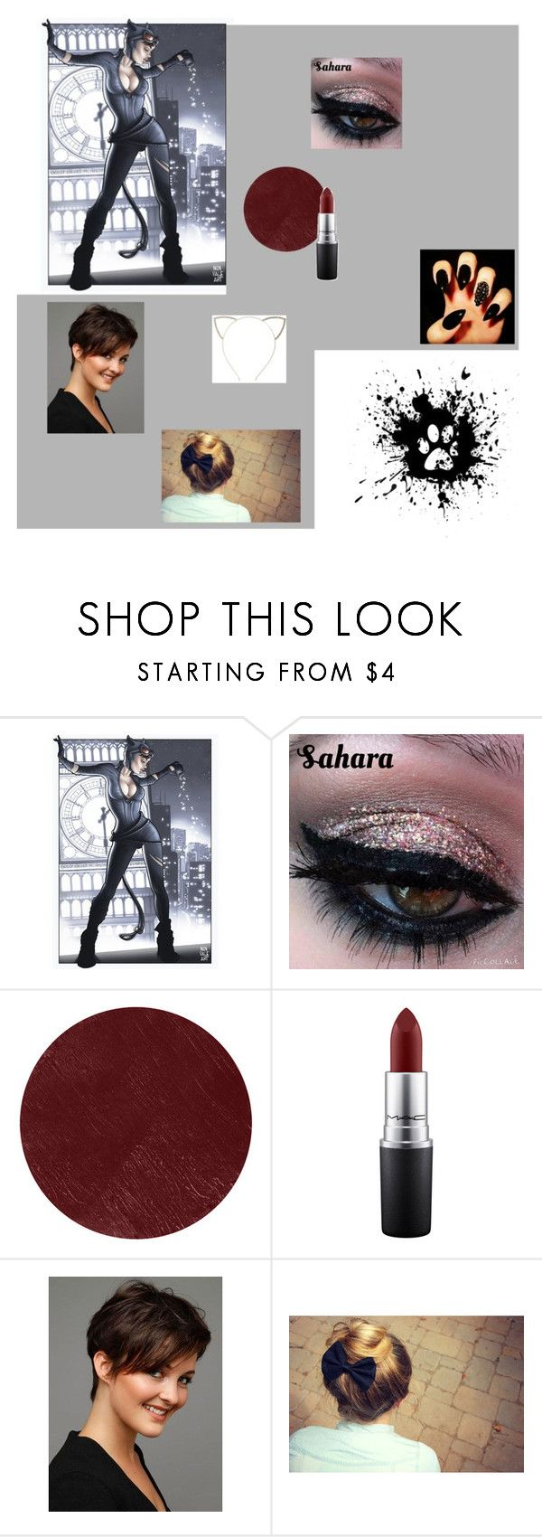 """Kitty makeup"" by apple-quinn on Polyvore featuring beauty, Burberry, MAC Cosmetics and Cara"