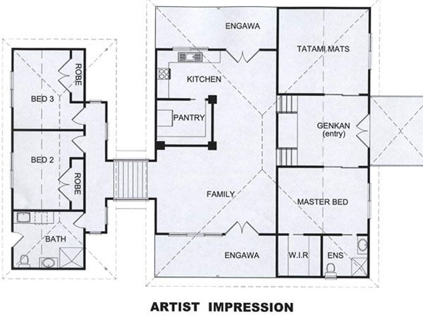 Pin By Rafeah Mustafa Kamal On Architecture Floor Plans Traditional Japanese House Japanese Tea House Japanese House