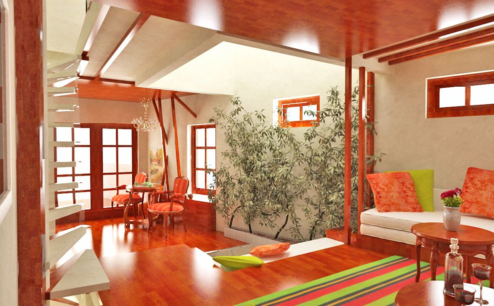Modern Traditional And Colorful House By Gemelli Design Studio