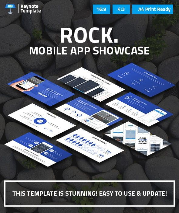 Mobile App Showcase Keynote Pitch Deck — Keynote KEY
