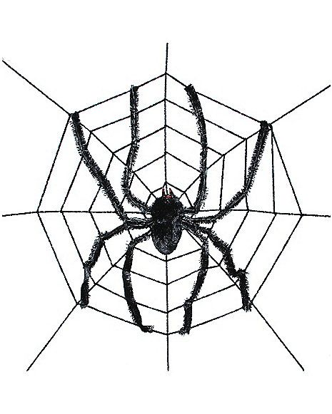 Giant Spider With Web - Decorations  - Spirithalloween.com