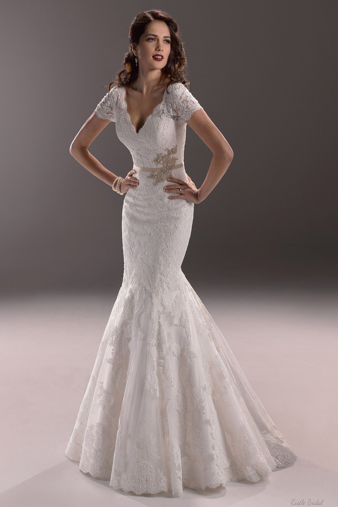 Wedding gowns with sleeves from spring get latest fashion