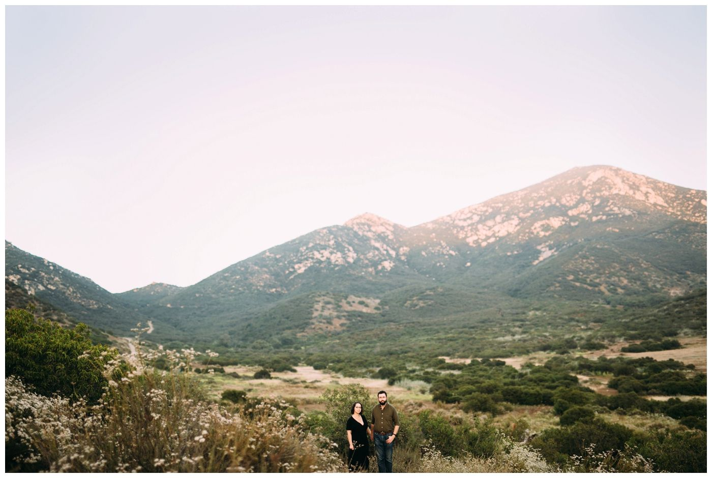 Scenic Photography Mountain Background Couple Photography