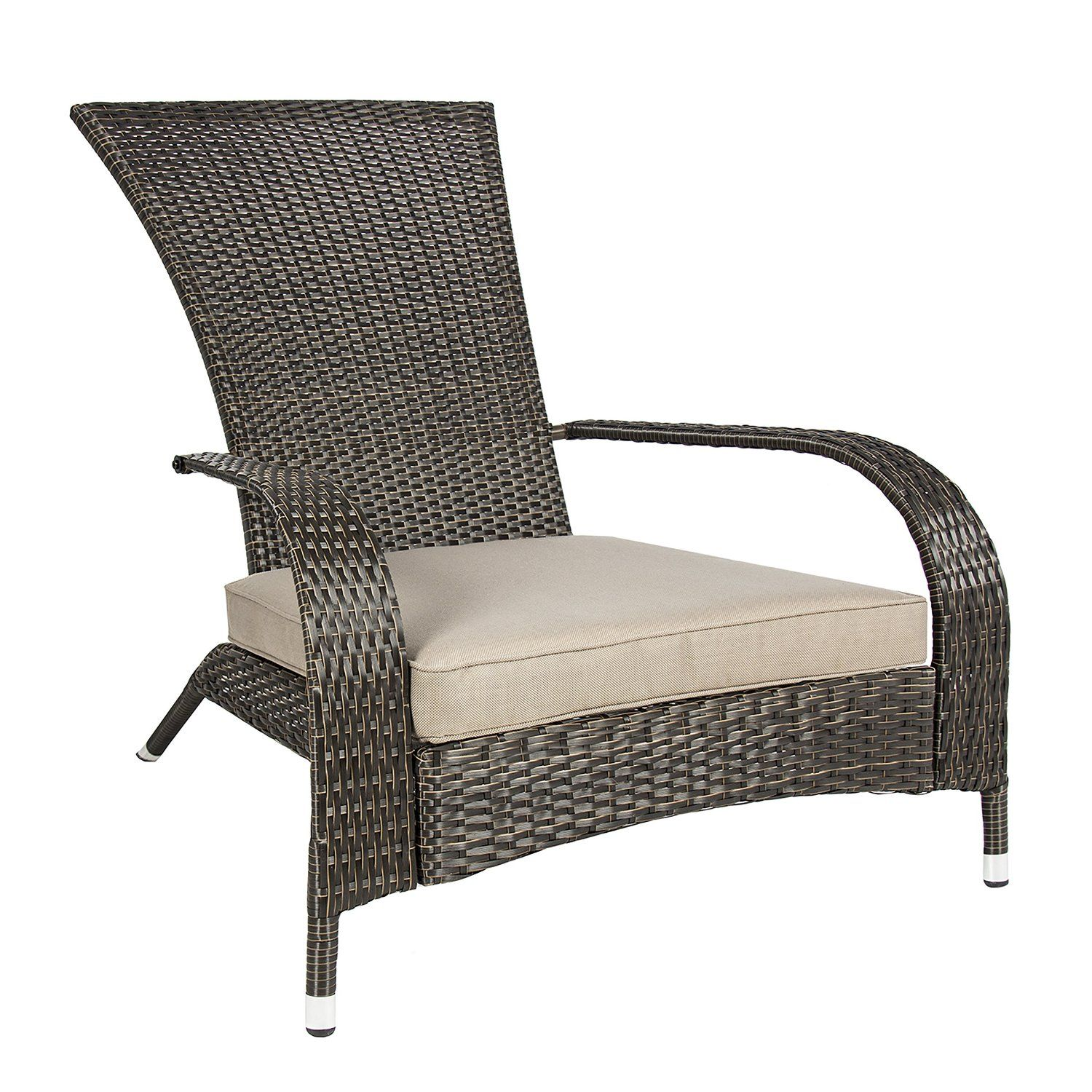 amazon : best choiceproducts wicker adirondack chair patio porch