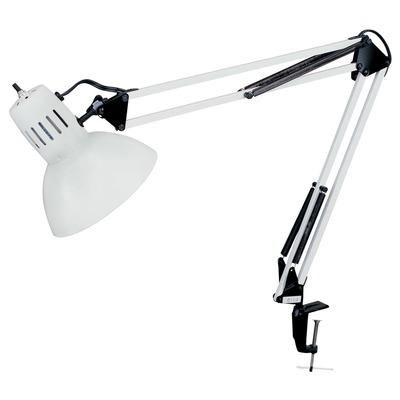 (CLICK IMAGE TWICE FOR UPDATED PRICING AND INFO) #home #homeimprovement #homedecor #lighting #lamps #lights #lightandfixture  see more lamps at http://www.zbrands.com/Lamps-C40.aspx - Dainolite Lamps - 1 Light Clamp on Task Lamp Finish: White