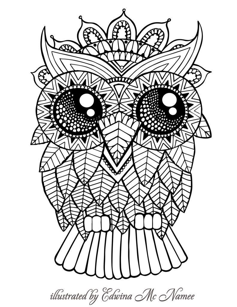 owl free sample join fb grown up coloring group