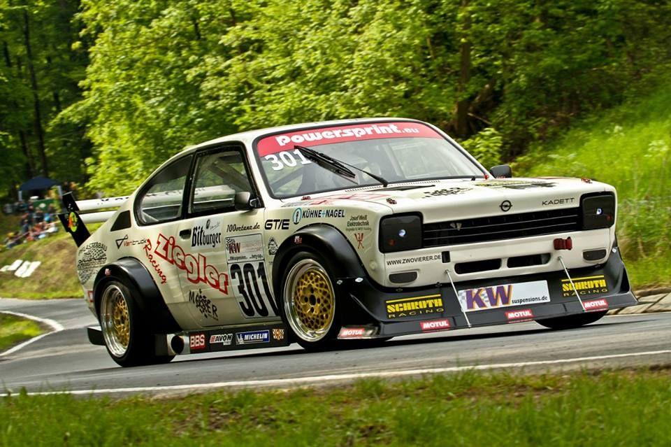 Opel Kadett C Bergrennen Ringtool KW Gewindefahrwerk Schroth Gurte Supersprint Gruppe A