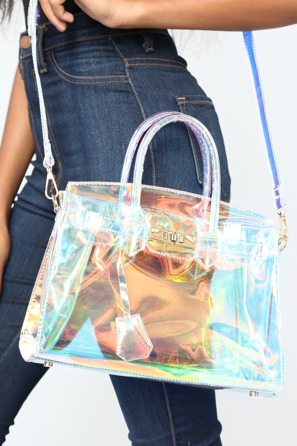 149f4d94b2 Next Level Holographic Bag - Clear in 2019