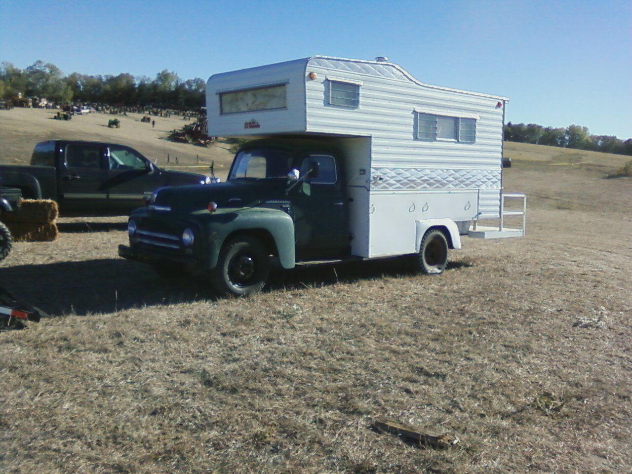 old truck and camper
