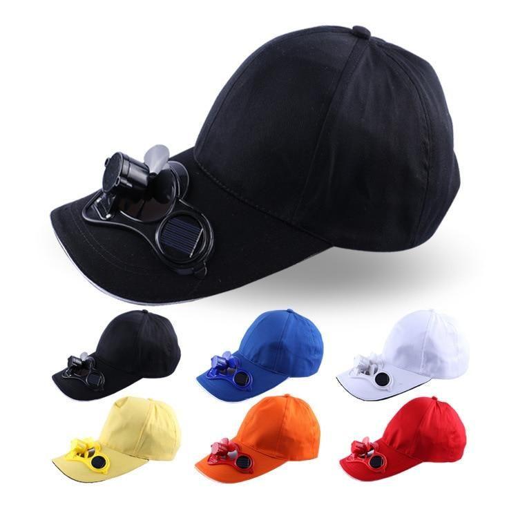 Summer Sport Outdoor Hat Cap With Solar Sun Power Cool Fan Baseball Hats Cooling Fan Solar Power