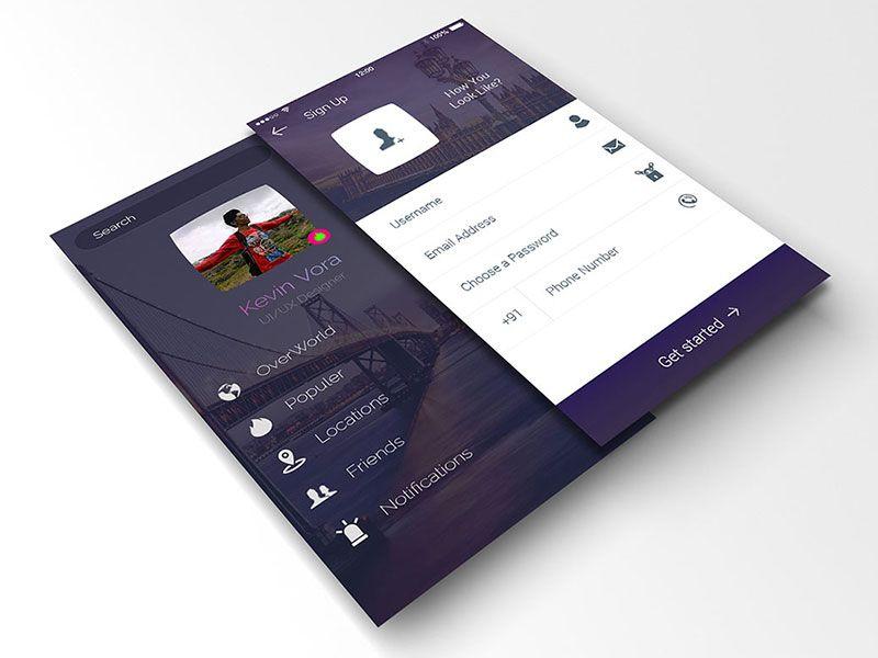 Perspective App Screen Mockup Mockup Free Psd Free Mockup Psd Templates