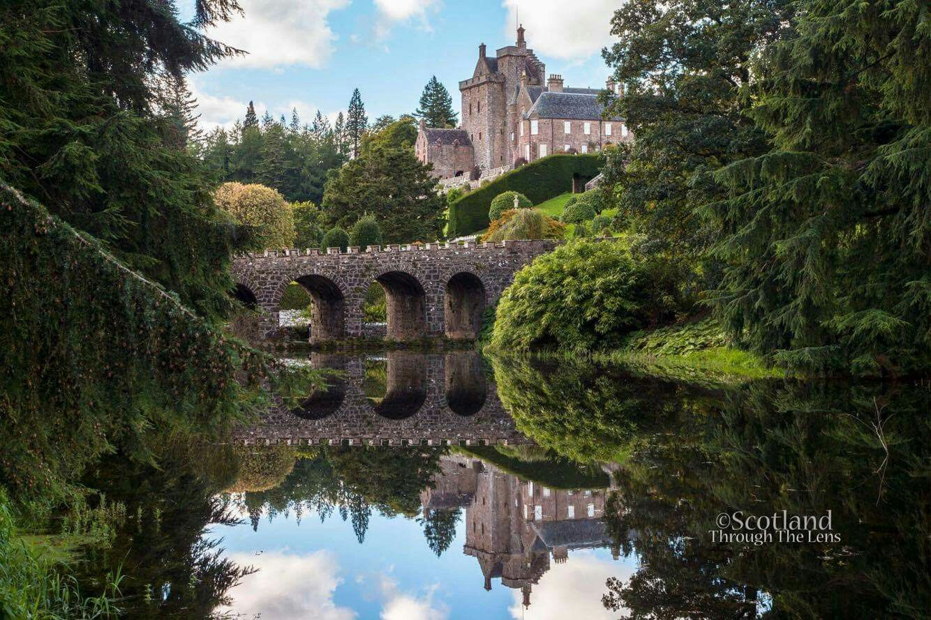 Drummond Castle Gardens, Perthshire, used as a location in the movie Rob Roy