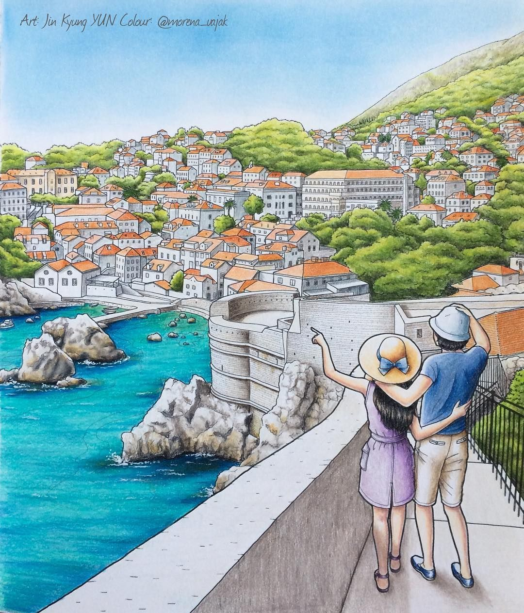 Dubrovnik From The Beginning By The Korean Artist Jin Kyung Yun