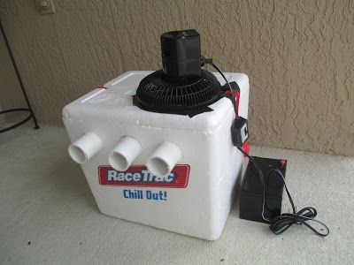 Diy Air Conditioner Styrofoam Ice Chest Pvc Pipe And A