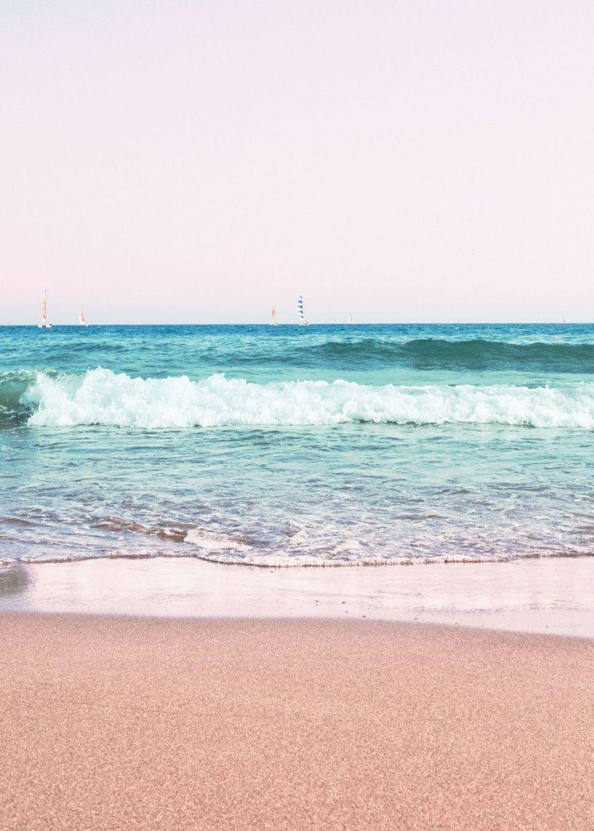 Pastel Ocean Dream 1 Poster By Anita S Bella S Art Displate Nature Posters Ocean Wallpaper Poster Prints Wallpaper glass ball beach sand wave