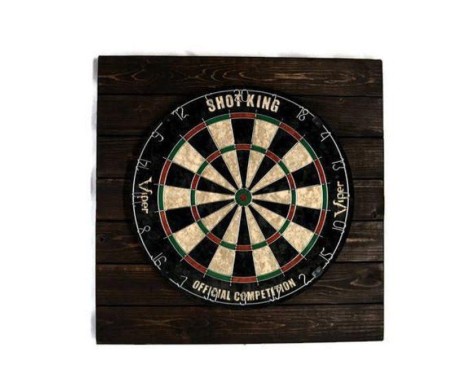 Handmade Driftwood Dart Board Dartboard Backboard With Shelf