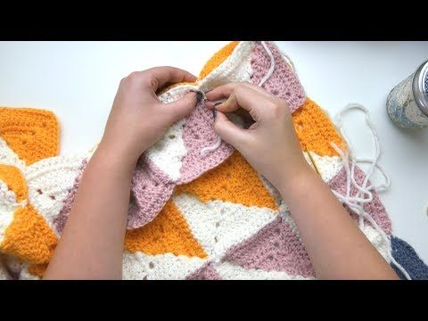Joining Crochet Granny Squares with PERFECT Symmetry - YouTube ...