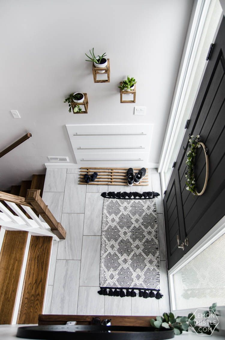 A Split Level Gets A Praire Style Facelift In Mclean Va: DIY Split Level Entry Makeover- I LOVE This Entry. The