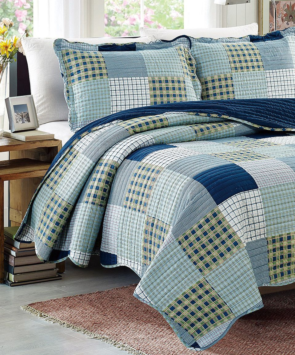 Take a look at this Plaid Patches Reversible Quilt & Shams today!