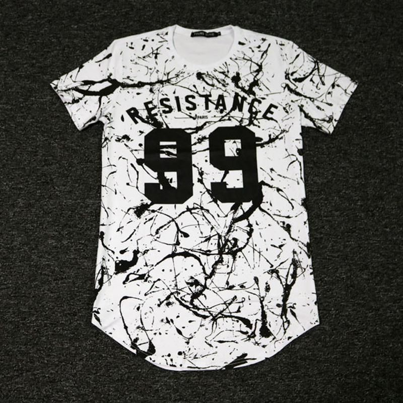 Man Si Tun New 99 RESISTANCE Letters Print kanye West T