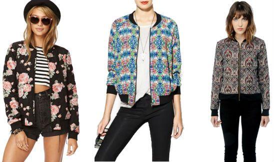 Patterned bomber jacket h&m – New Fashion Photo Blog