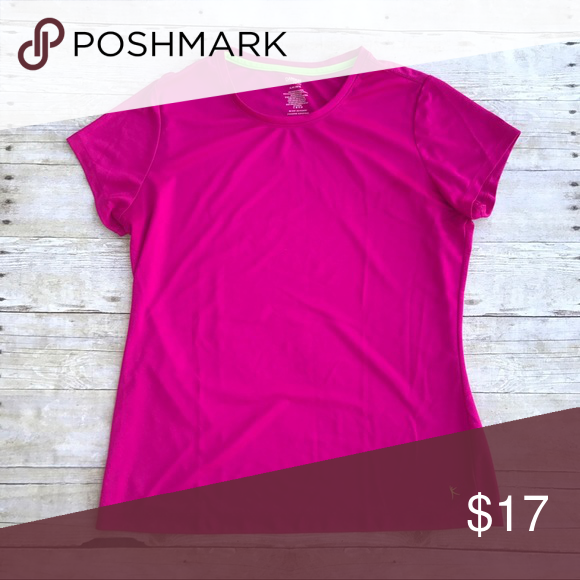Hot Pink Athletic T-Shirt Large Trendy and cute hot pink moisture wicking t-shirt. Danskin Now Tops Tees - Short Sleeve