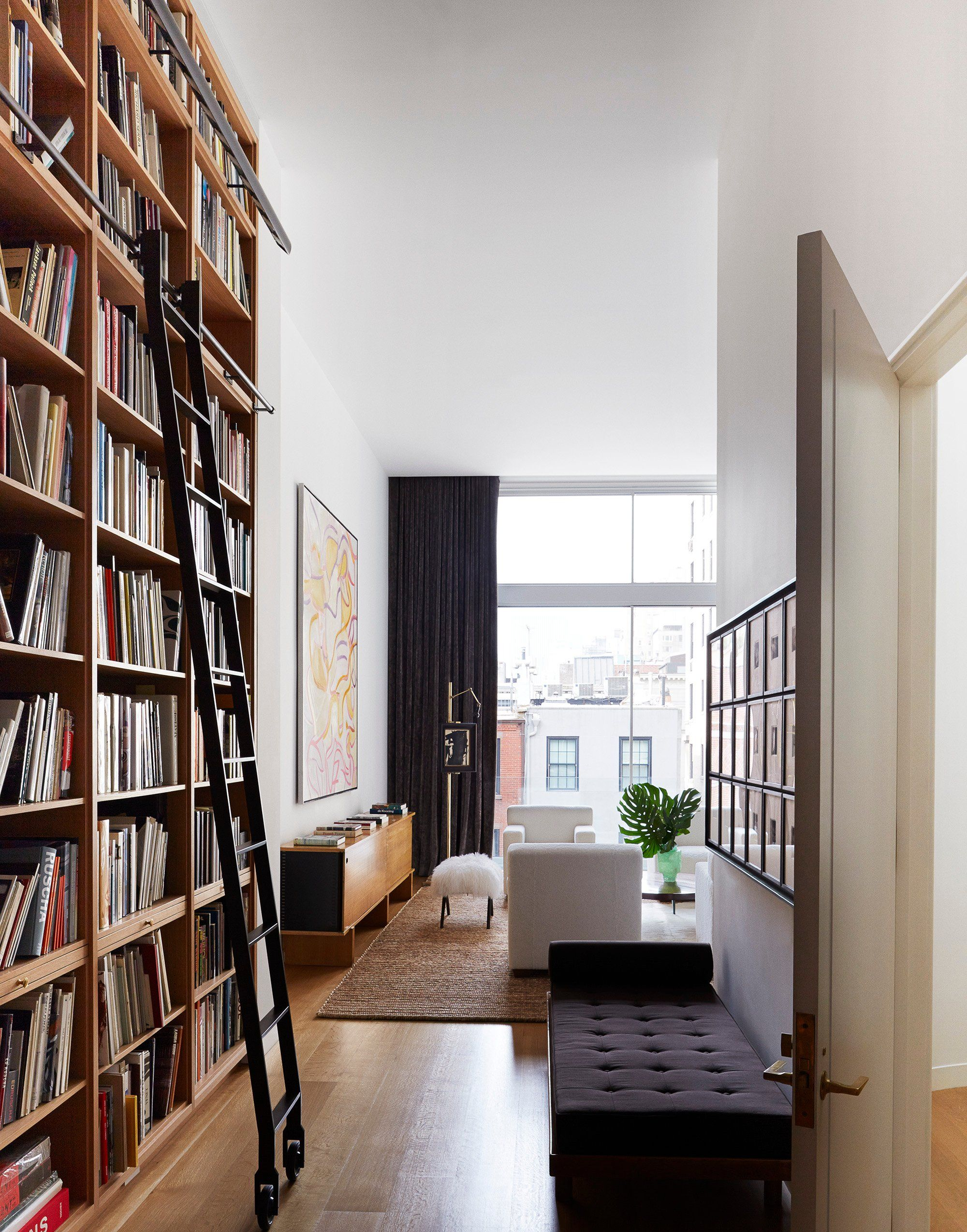 Contemporary Home Library Design: East 78th Street Modern Entry, D'Apostrophe Design, New