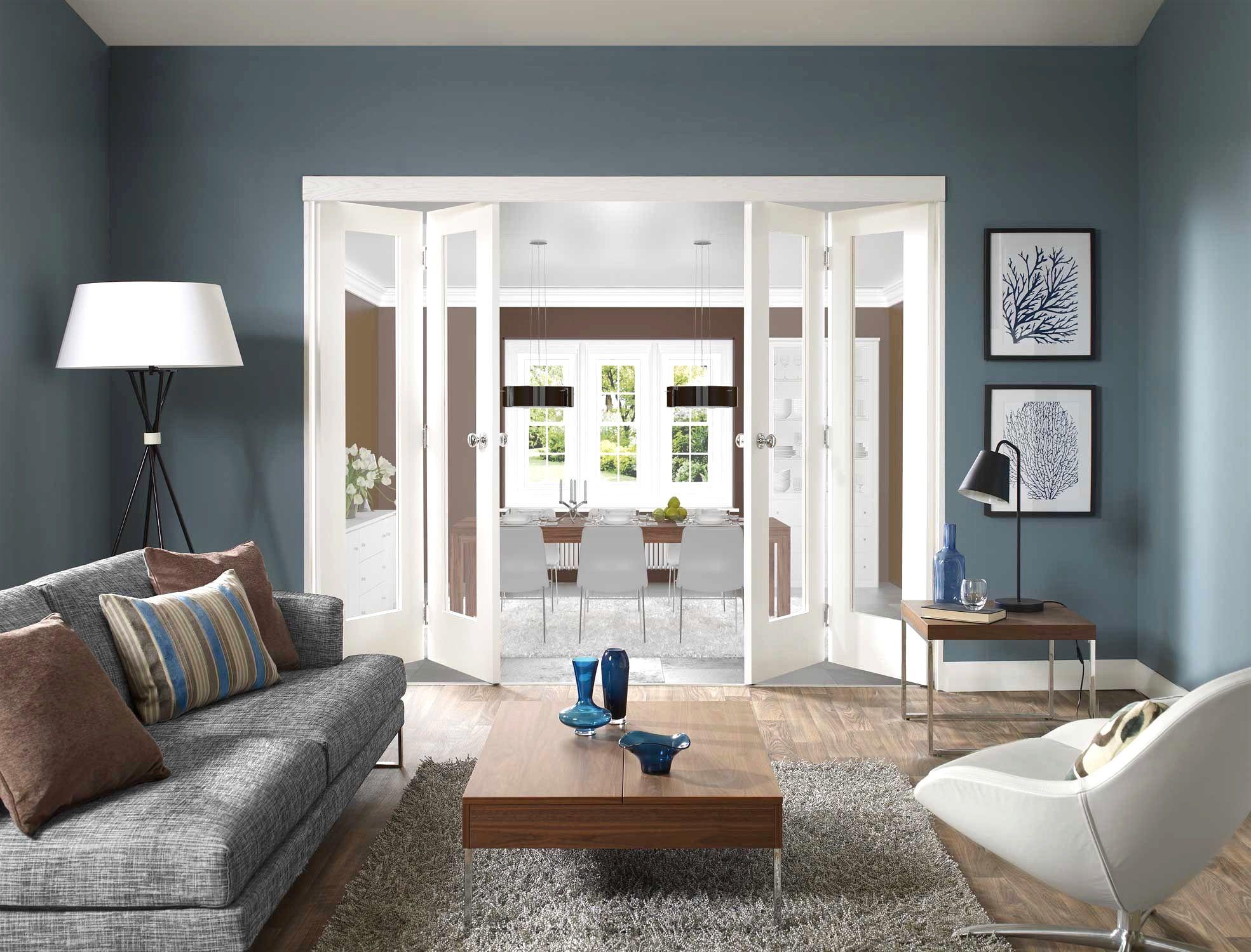 Grau Blaue Wand Bemerkenswert Auf Dekoideen Fur Ihr Zuhause Auch