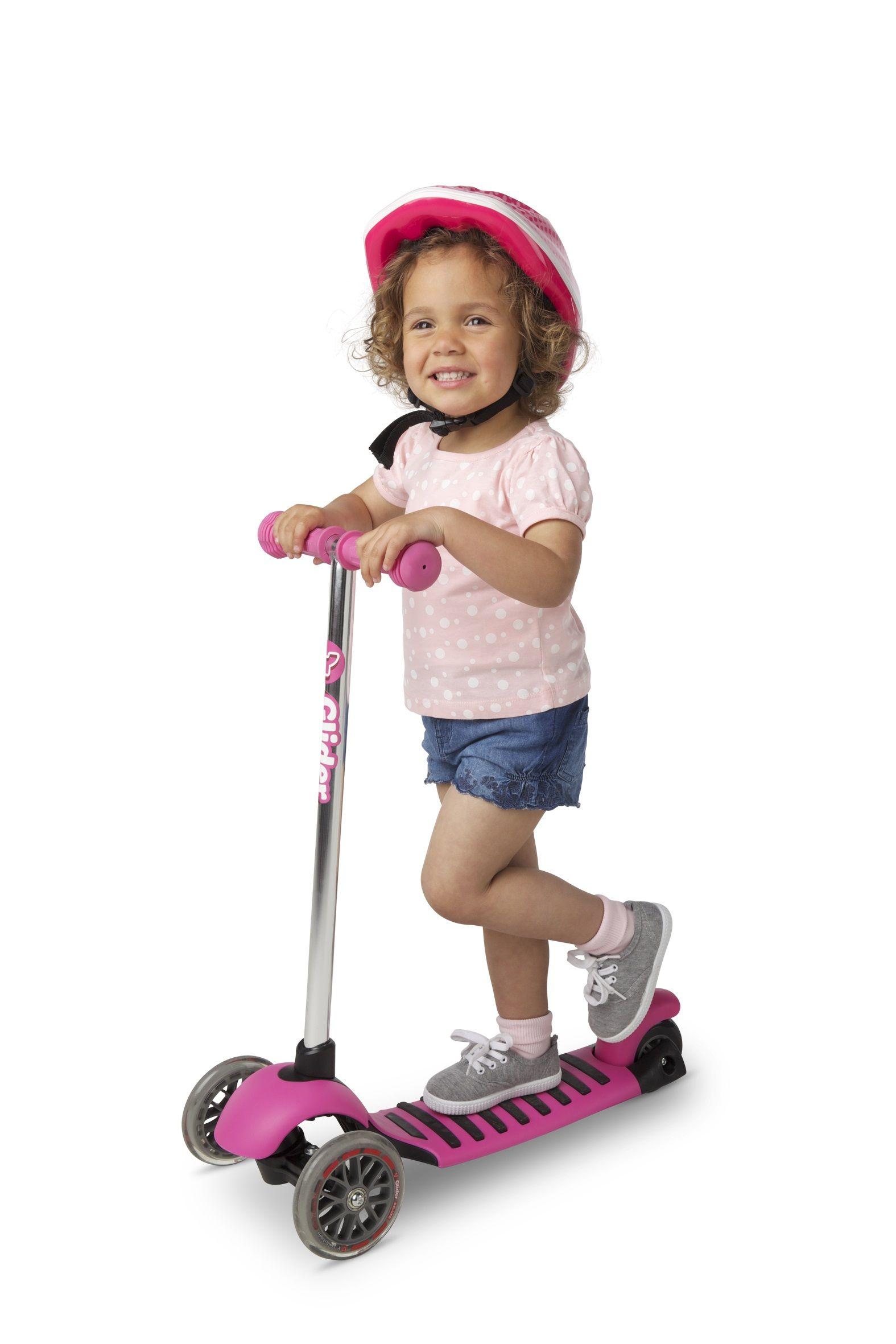 Y Glider 3 Wheel Scooter Kids Scooter Y Glider Deluxe Pink