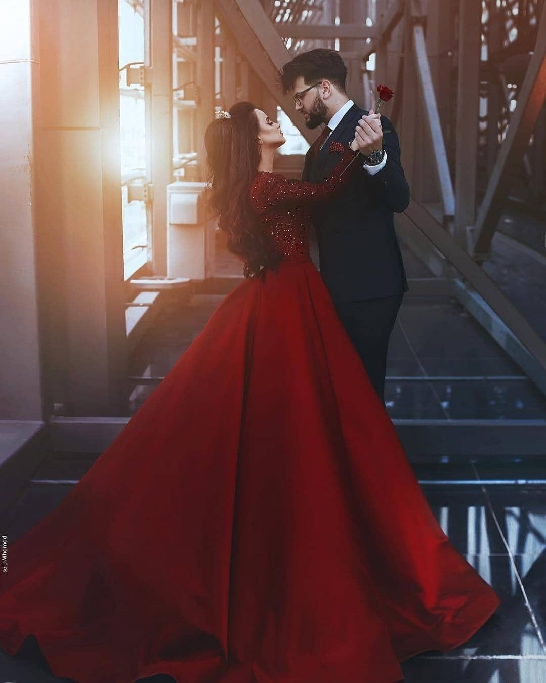 Red Dress Wedding Dress Long Sleeve Red Wedding Dresses Prom Dresses Ball Gown
