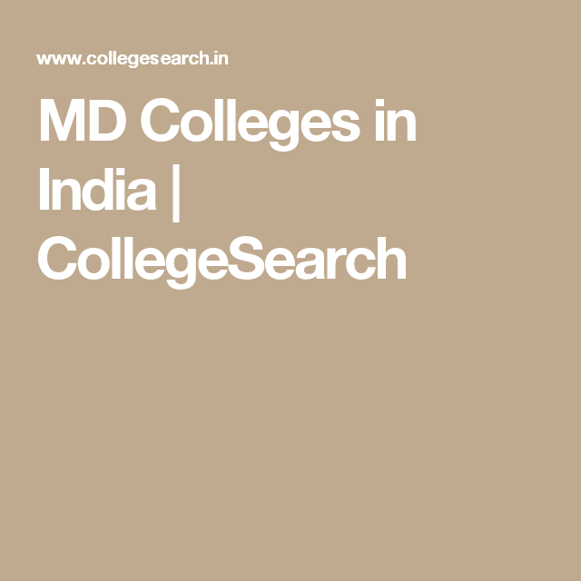 MD Colleges in India | CollegeSearch
