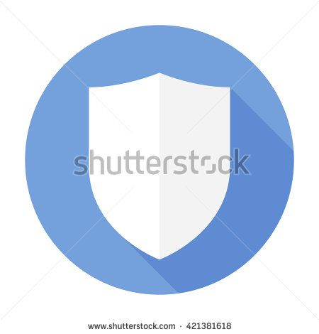 Shield Icon Flat Vector Arms Secure Signsymbol For Mobile User