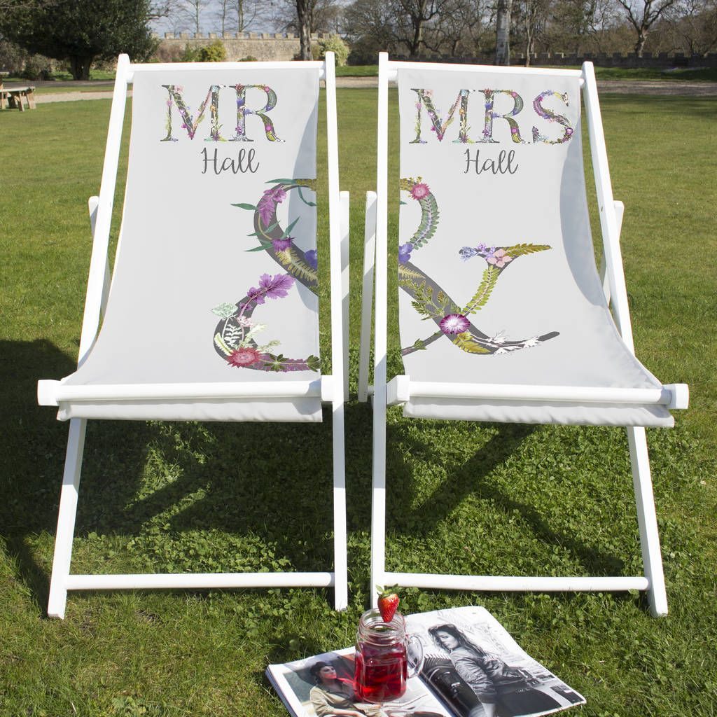 Couples Matching Deckchairs In 2020 Wedding Gifts Personalized