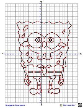 Spongebob Coordinate Graphing Picture Coordinate Graphing Pictures Coordinate Graphing Mystery Picture Coordinate Graphing