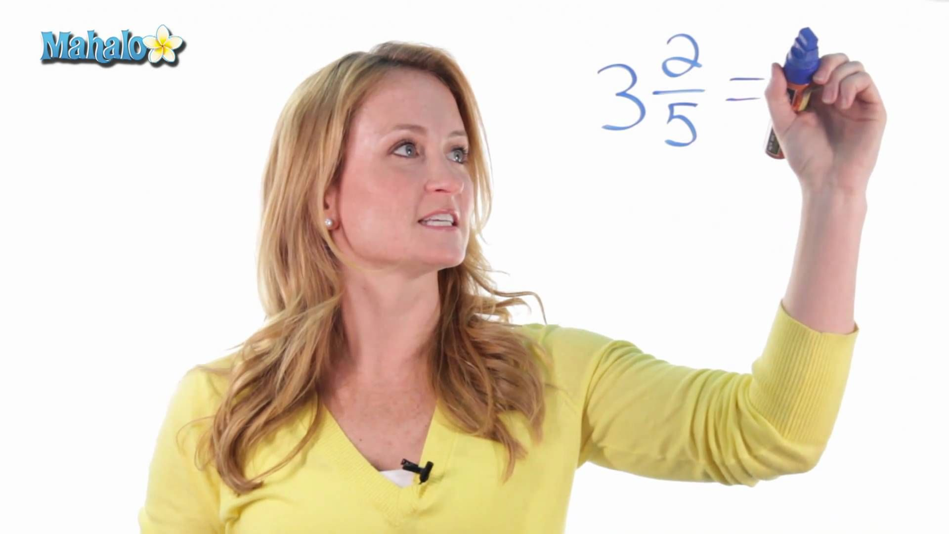 How To Convert Mixed Numbers Into Fractions