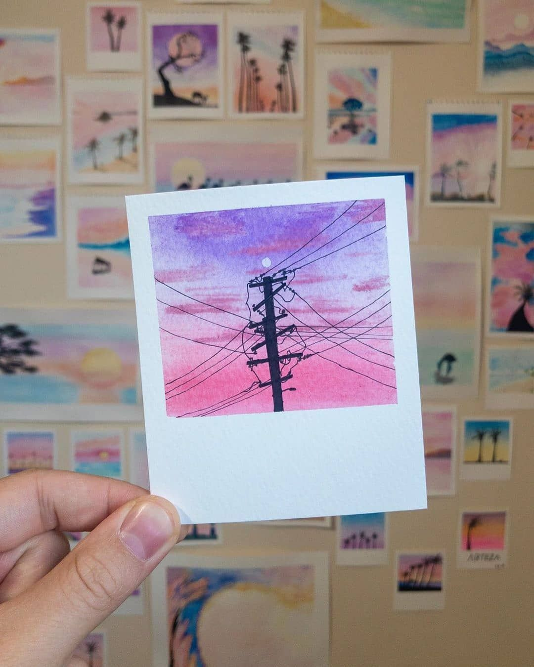 Paintbrush Polaroids a gorgeous series of watercolor paintings by @talbotdesign. Which one is your favorite?  _______________________ No…