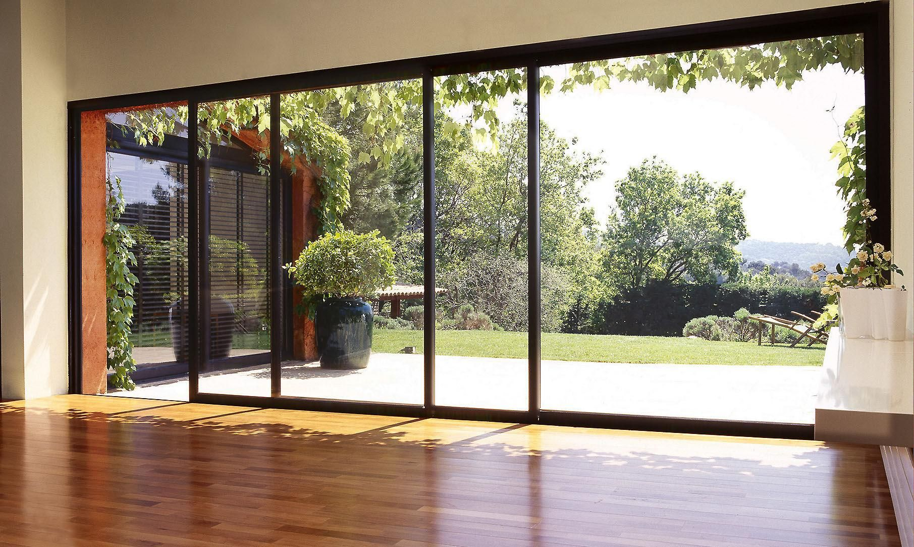 House design with sliding window  modern shower house open  google search  quinchos  pinterest
