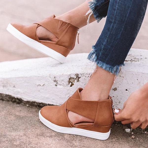 Women Fashion Stylish Wedge Sneakers in