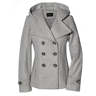 Light Grey Pea Coat Womens - Sm Coats