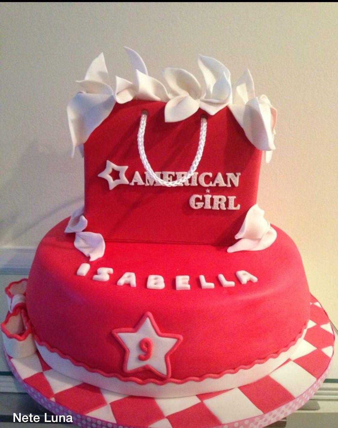 Enjoyable American Girlscake With Images American Girl Birthday Party Funny Birthday Cards Online Elaedamsfinfo