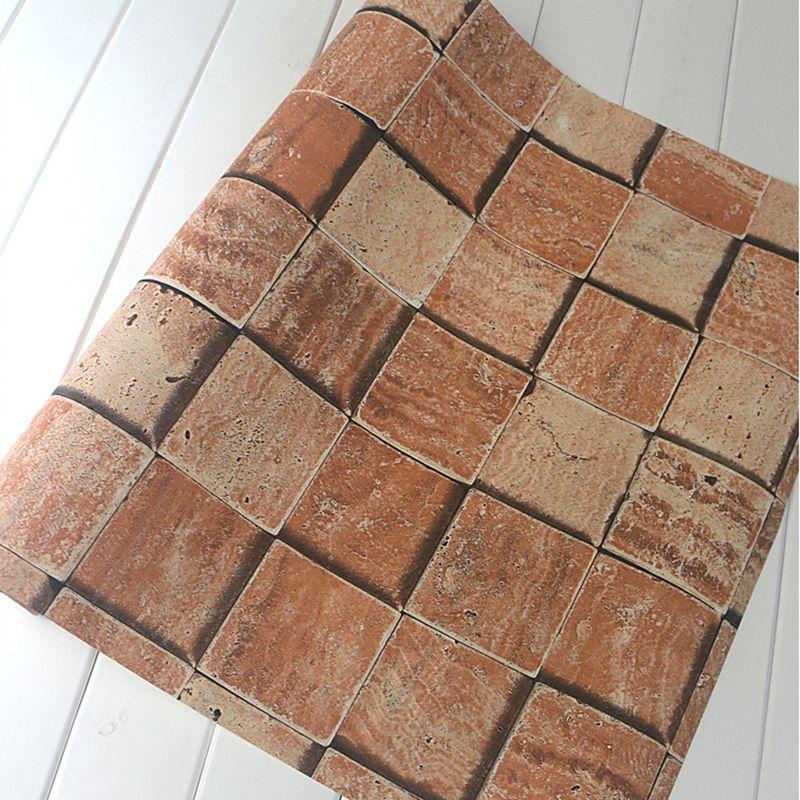 3D Papier Peint Chinois Style Vintage Mur de Briques En Relief Fonds