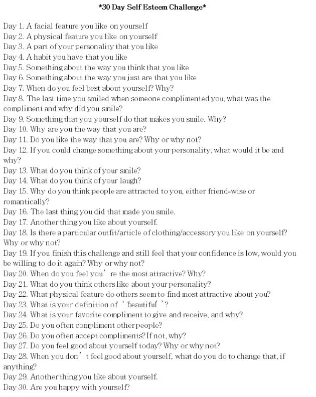 30 Day Self Esteem Challenge: Day 2 | Autoestima, Liderazgo y ...