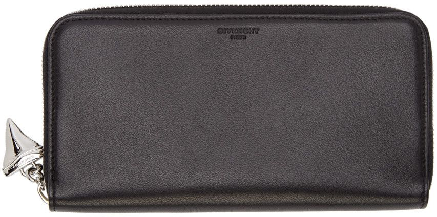 Givenchy Black Leather Zip-Around Wallet