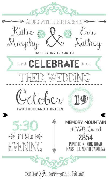 free wedding invitation templates wedding invitations pinterest