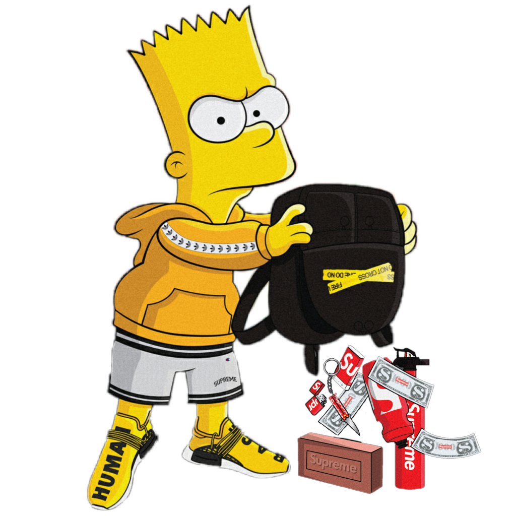 Bart Simpson Supreme Gucci Simpsons Brick Bartsupreme Bart Simpson Art Bart Simpson Bart Simpson Rap