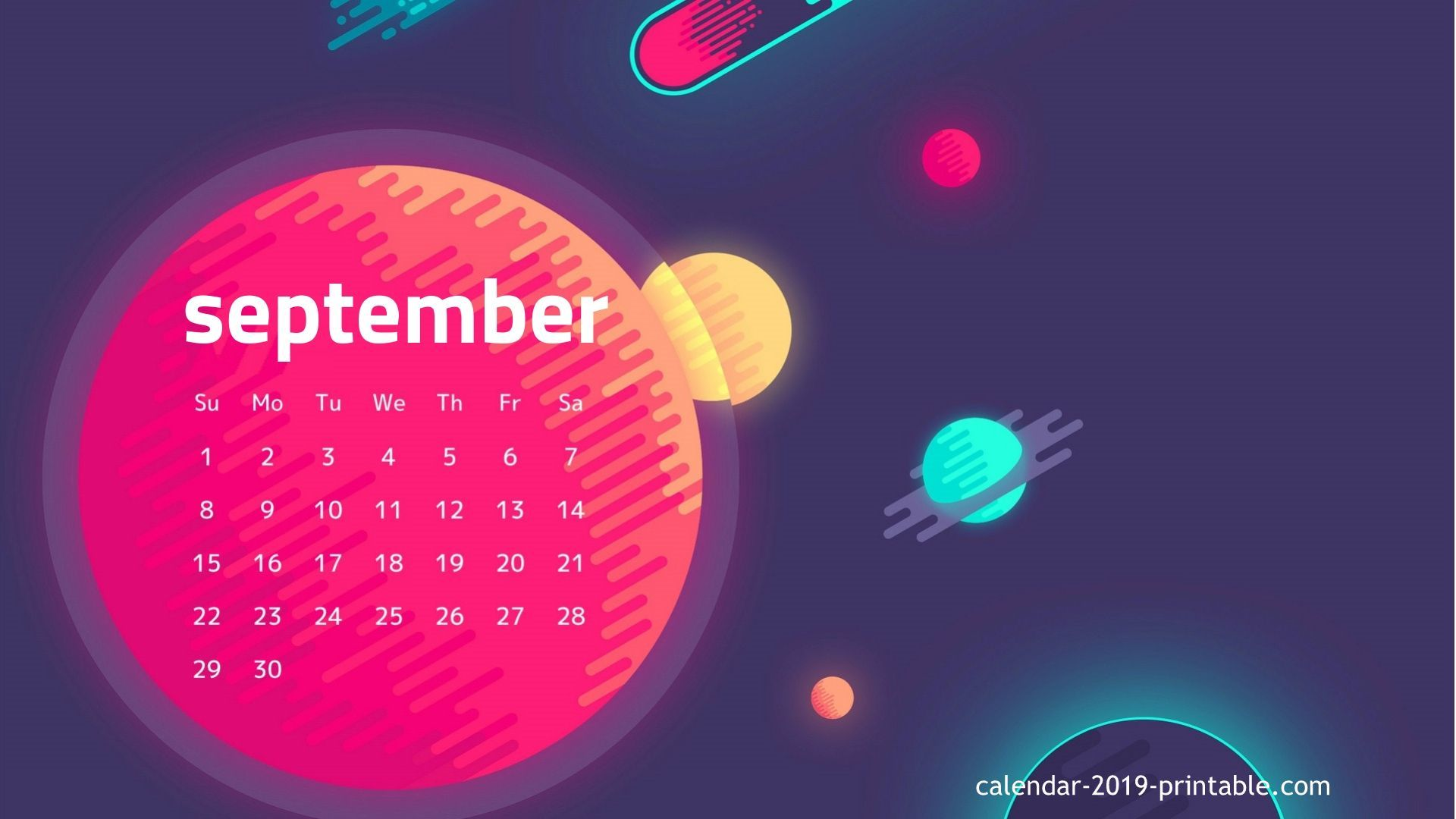 September 2019 Hd Wallpaper Calendar Calendar Wallpaper Desktop Calendar 2019 Calendar