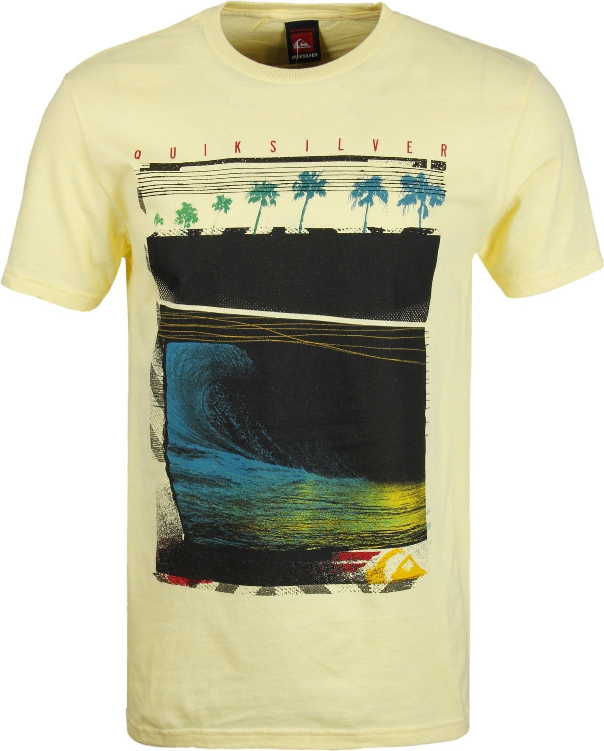 Quiksilver plain black t shirt - Quiksilver Night Swim T Shirt Light Yellow Men S Clothing Shirts T