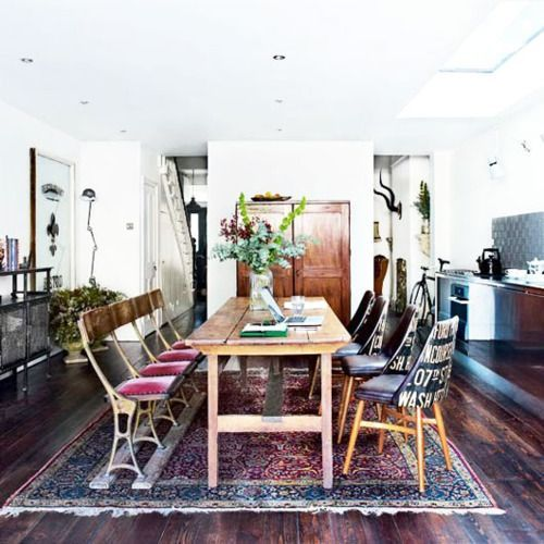 39 Original Boho Chic Dining Room Designs Digsdigs Love The Chairs On Left With Purplish Seats