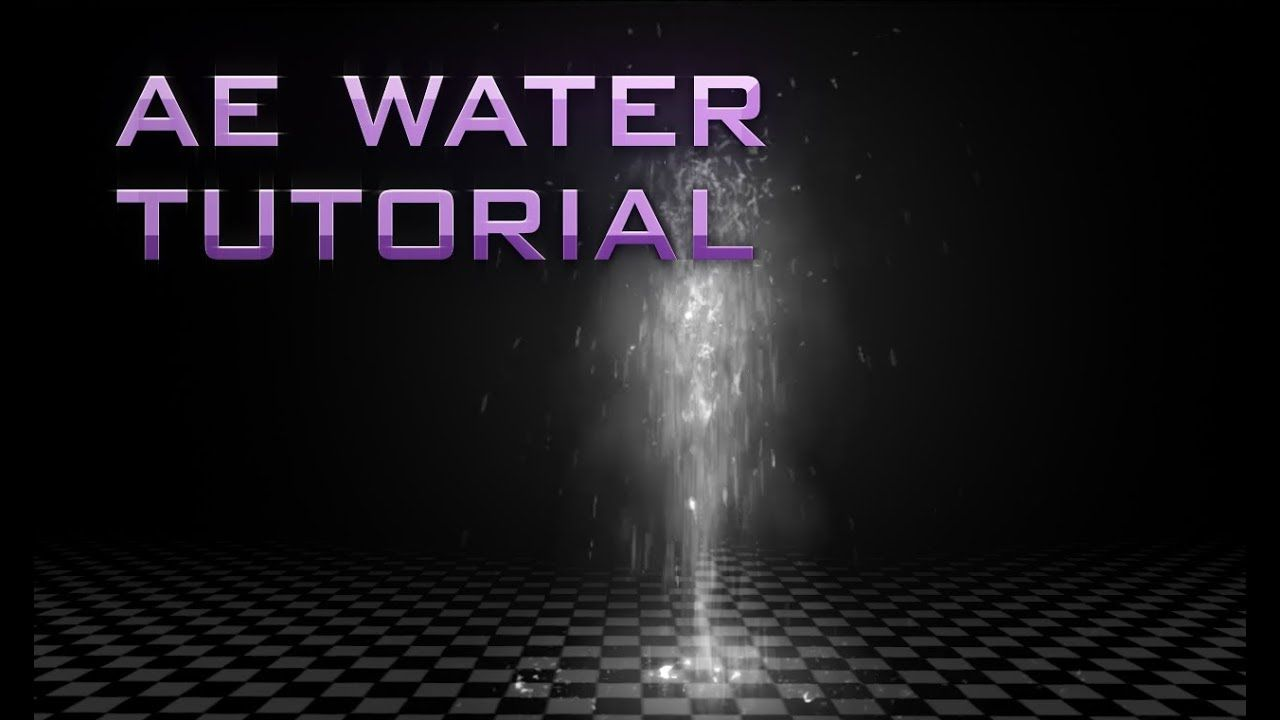 After Effects Tutorial Animated Water Trapcode Particular